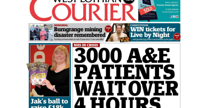 3000 A & E Patients Wait for over 4 Hours